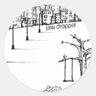 pegatina del jawdropper