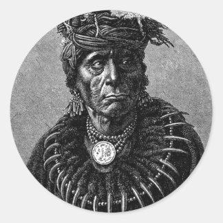 Pegatina del jefe indio
