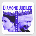 Pegatina del jubileo de diamante de la reina