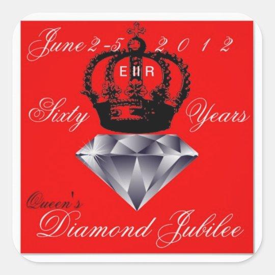 Pegatina del jubileo de diamante del Queens