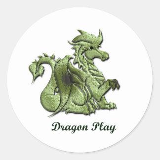 Pegatina del juego del dragón