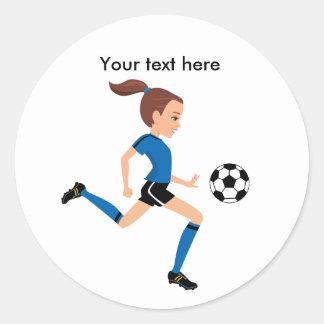 Pegatina del jugador de fútbol