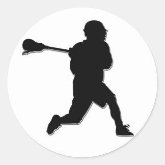 Pegatina del jugador de LaCrosse