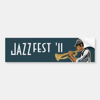 Pegatina del jugador del jazz pegatina de parachoque