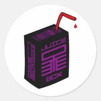 Pegatina del Jugo-Box (BG blanca)