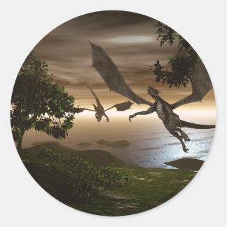 Pegatina del lago dragons
