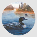 Pegatina del lago loon