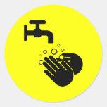 Pegatina del lavado a mano
