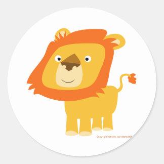 Pegatina del león de Cartoony