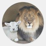 pegatina del león y del cordero