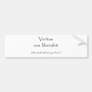 Pegatina del liberabit-parachoque de los vos de Ve Pegatina De Parachoque