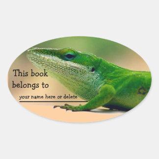 Pegatina del libro de Anole del amante del lagarto
