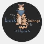 Pegatina del libro de los gatos del gatito