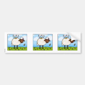 pegatina del libro de recuerdos de las ovejas de l pegatina para auto