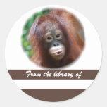 Pegatina del libro del amante del primate