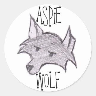 Pegatina del lobo de Aspie