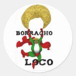 Pegatina del loco de Borracho