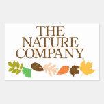 Pegatina del logotipo con las hojas