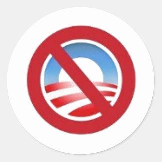 pegatina del logotipo de Anti-obama