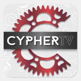 Pegatina del logotipo de Cypher_tv