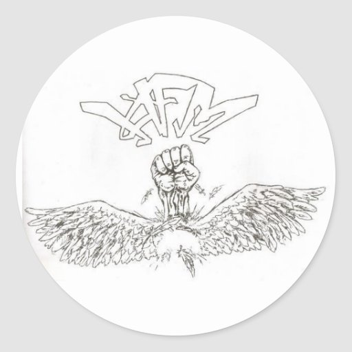 Pegatina del logotipo de HFM