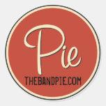 ¡Pegatina del logotipo de la empanada - hoja de 6!