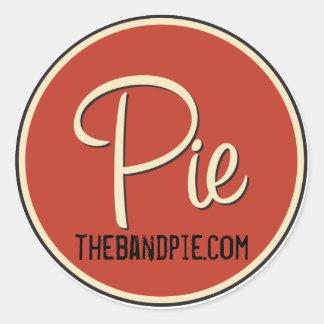 ¡Pegatina del logotipo de la empanada - hoja de 6! Pegatina Redonda