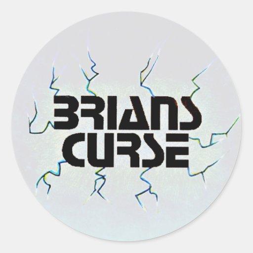 Pegatina del logotipo de la maldición de Brians