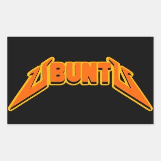 Pegatina del logotipo de la parodia de la roca de