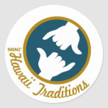 Pegatina del logotipo de las tradiciones de Hawaii