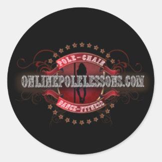 Pegatina del logotipo de OnlinePoleLessons redondo