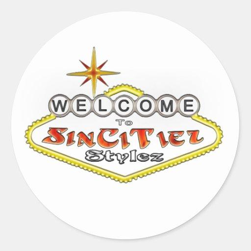 Pegatina del logotipo de SinCiTiez Stylez
