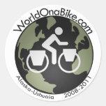 pegatina del logotipo de WorldOnaBike.com