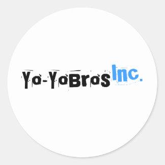 Pegatina del logotipo de Yo-YoBros, Inc.