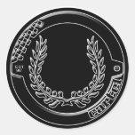 Pegatina del logotipo del cártel del cromo