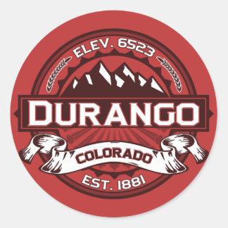 Pegatina del logotipo del color de Durango