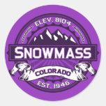 Pegatina del logotipo del color de Snowmass