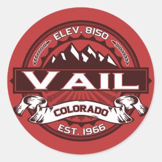 Pegatina del logotipo del color de Vail
