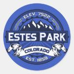 Pegatina del logotipo del color del parque de Este