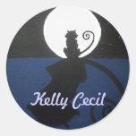 Pegatina del logotipo del gato de Kelly Cecil