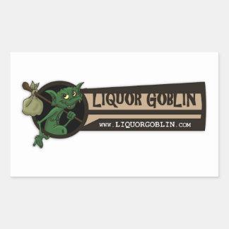 Pegatina del logotipo del Goblin del licor