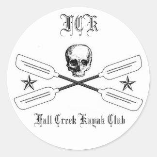Pegatina del logotipo del kajak de la cala de la c