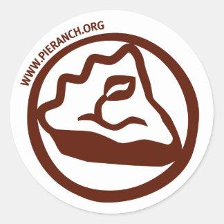 Pegatina del logotipo del rancho de la empanada
