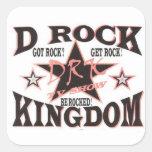 Pegatina del logotipo del reino de la roca de D