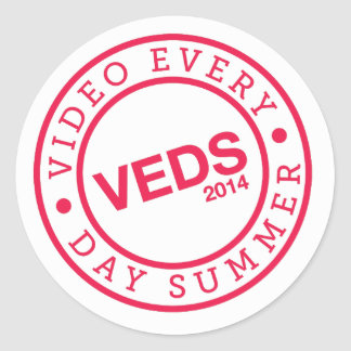 pegatina del logotipo del tiempo de VEDS Limited