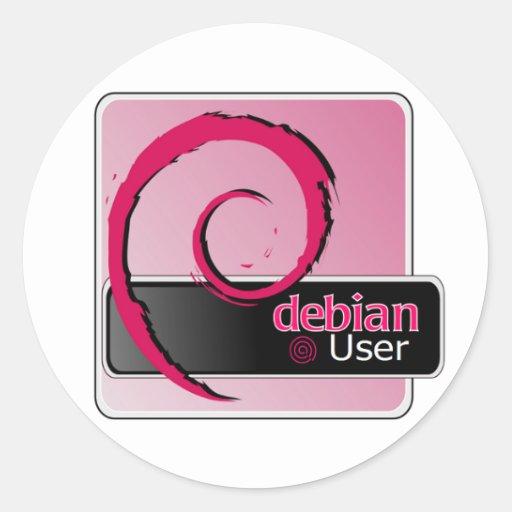 Pegatina del logotipo del usuario de Debian