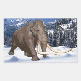 Pegatina del mamut lanoso