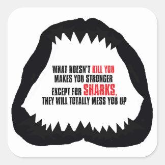Pegatina del mandíbula del tiburón