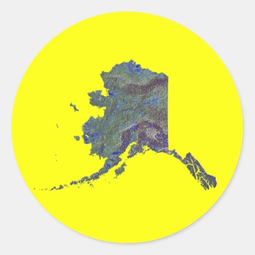 Pegatina del mapa de Alaska