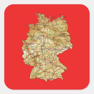 Pegatina del mapa de Alemania
